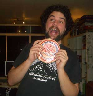 "Ben showing extreme happiness in finding a rare cheese for 5 bucks. Can't you just see imagine the squeal he is making! ""Eeeeeeee! Cheeeeeeese! And it's allllll miiiiiiine!"""